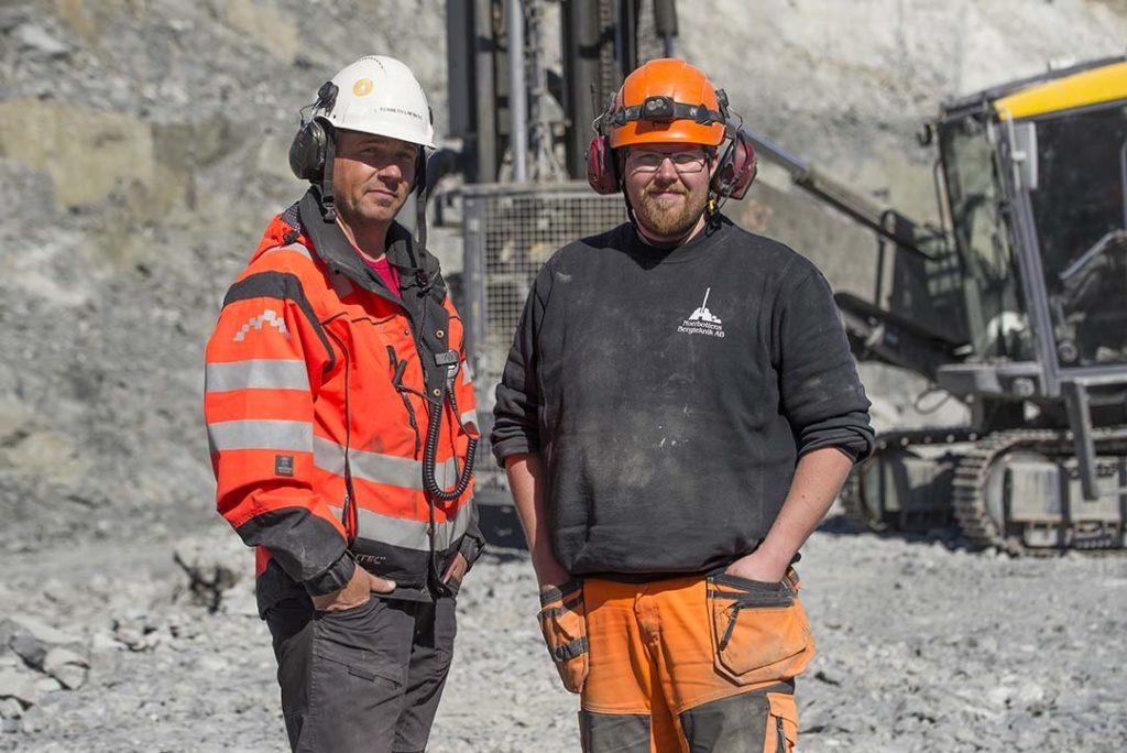 Medarbetare i Björkdalsgruvan