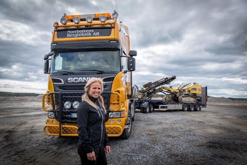 Lisa Jonsson, lastbilsförare
